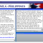 US Embassy Manila web chat
