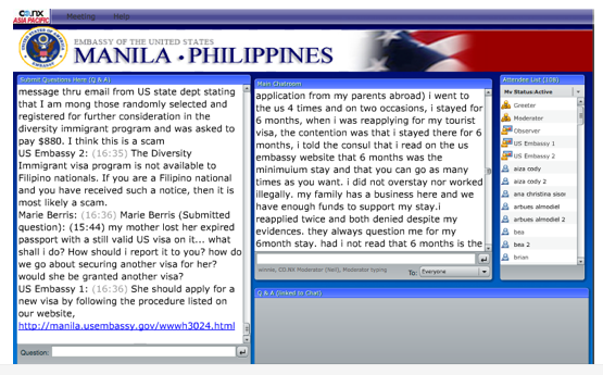U S Embassy In The Philippines Holds Its First Web Chat Life Take 2 My Reinvented Selflife Take 2 My Reinvented Self