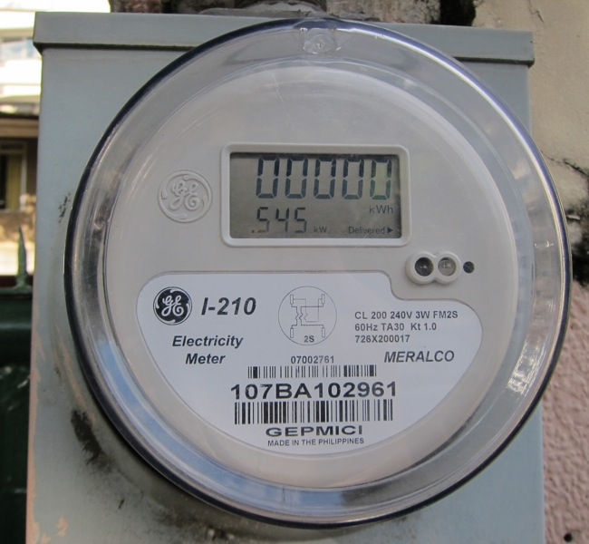 Digital Electric Meter : My meralco electric meter is finally digital life take